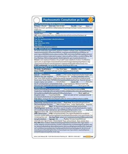 Psychosomatic Consultation Pocketcard Set