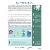 Dantų priežiūra. Plakata