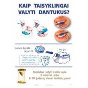 Kaip taisyklingai valyti dantukus. Plakata